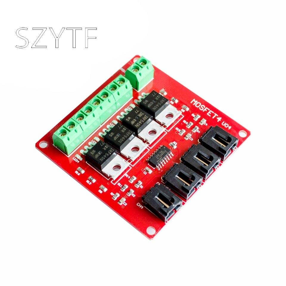 IRF540, interruptor MOSFET, 4 interruptores, aislamiento del módulo de alimentación