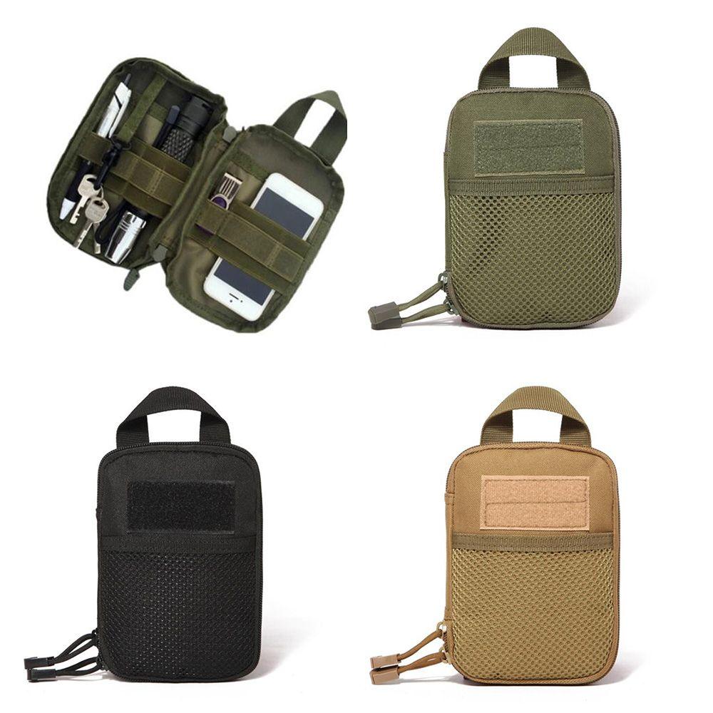 600D Nylon Tactical Bag Outdoor Molle Military Waist Fanny Pack Mobile Phone Pouch Belt Waist Bag ED