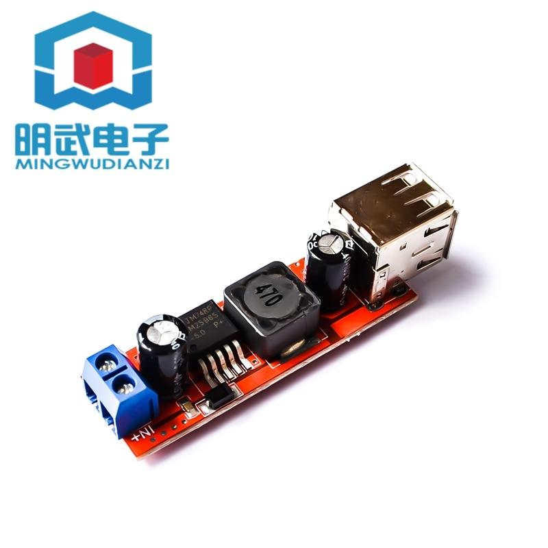 Автомобильный понижающий модуль регулятора напряжения с двумя USB-выходами 9 В/12 В/24 В/36 В до 5 В постоянного тока, 3 А