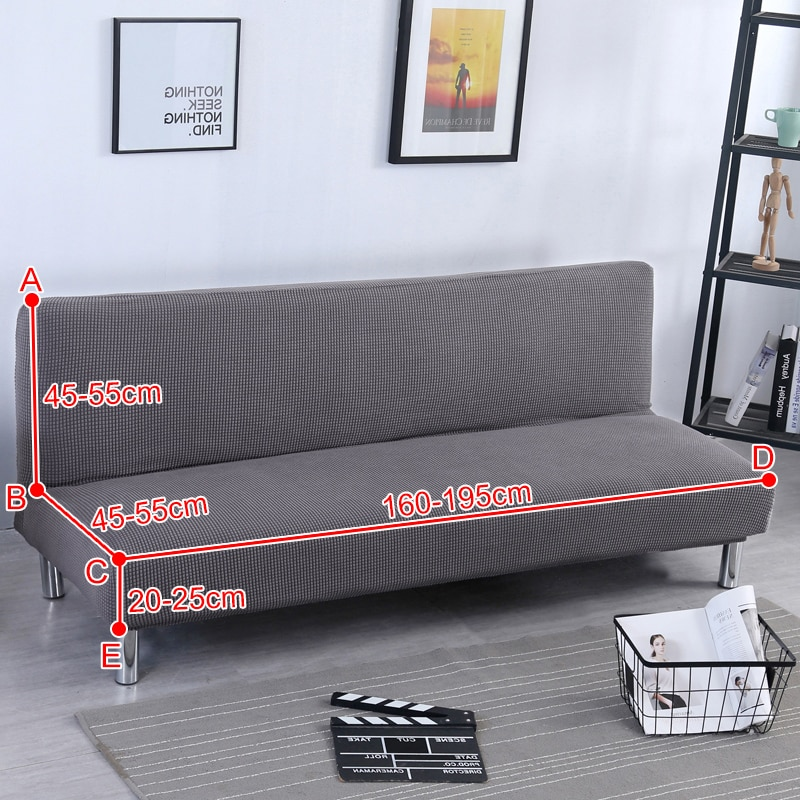 Modern Universal Armless Sofa Bed Cover Folding Seat Slipcovers Tight Wrap Slip-resistant Elastic Stretch Covers Couch Protector