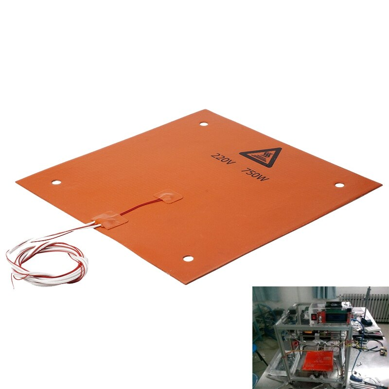750w 220v 310*310 مللي متر سيليكون ساخنة السرير التدفئة سادة ل CR-10 3D طابعة