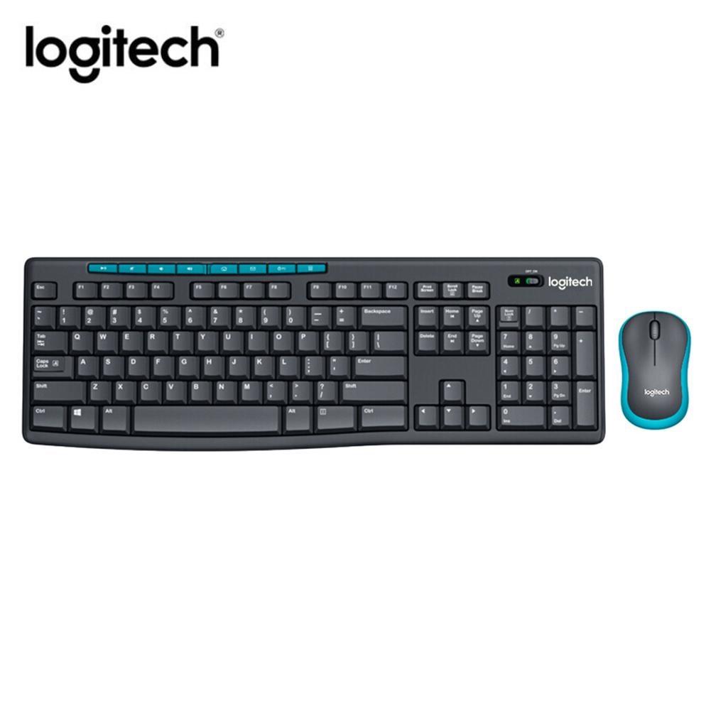 لوجيتك MK275 لوحة مفاتيح بمنفذ USB اللاسلكية 1000 ديسيبل متوحد الخواص الضوئية الضوئية مع وظيفة الوسائط المتعددة مفتاح المنزل مكتب ماوس المجموعات