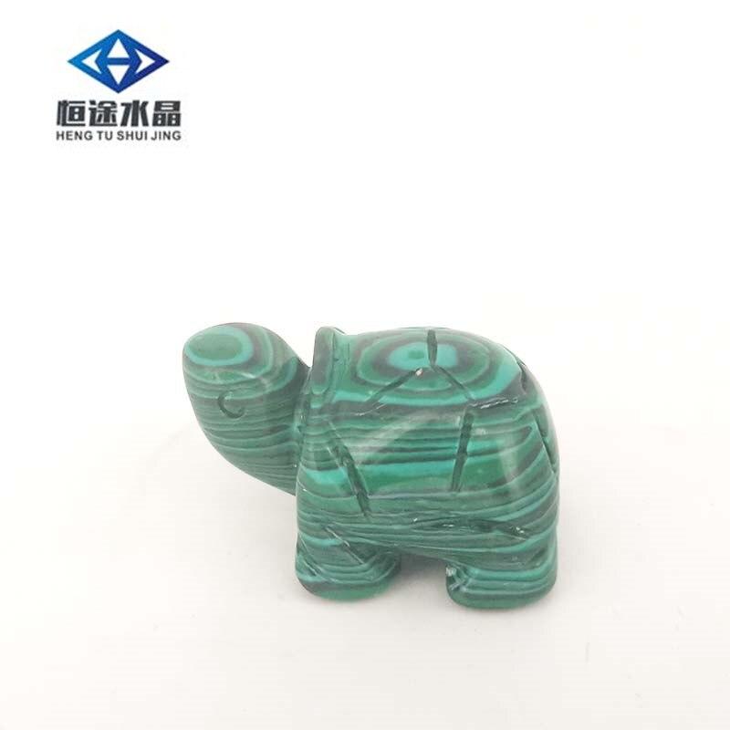 Carved MALACHITE Crystal Gem Stone turtle healing