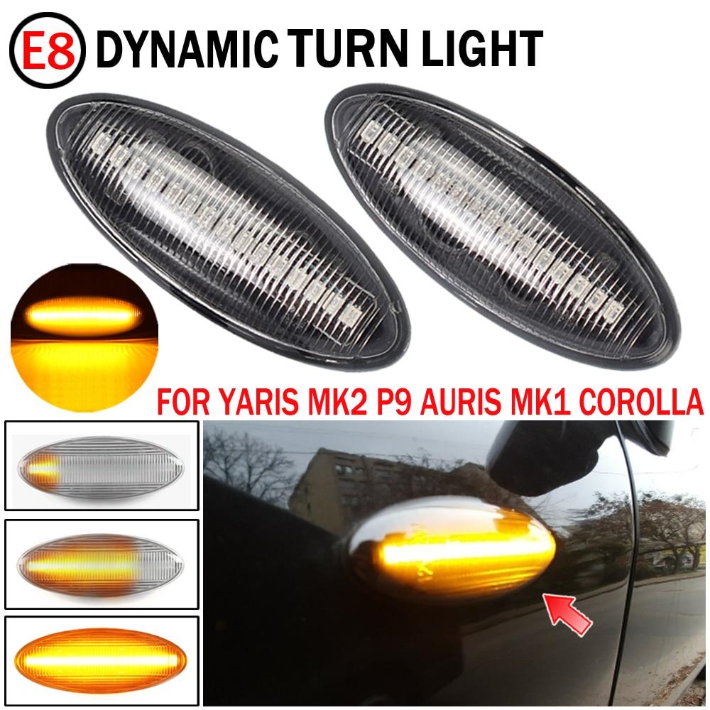 لتويوتا يارس كورولا أوريس Mk1 E15 RAV4 Mk3 LED ديناميكية سيارة الوامض الجانب مرآة ماركر بدوره مصباح إشارة ملحقات المصابيح
