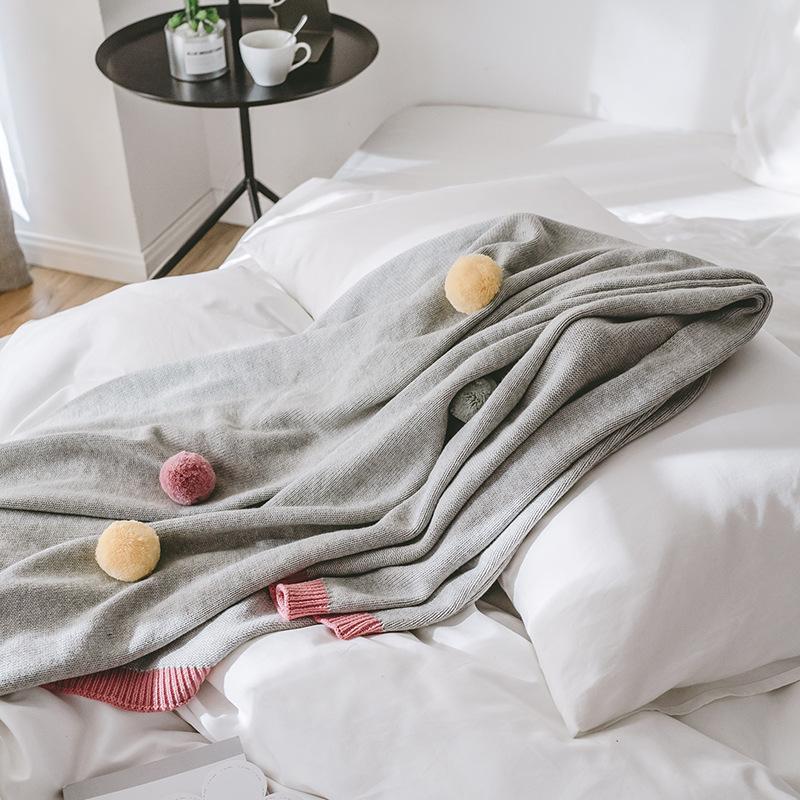 40 130X160 سم نسيج بطانية دثار محبوك بلون شال الترفيه بطانية قيلولة بطانية الإبداعية ديكور المنزل