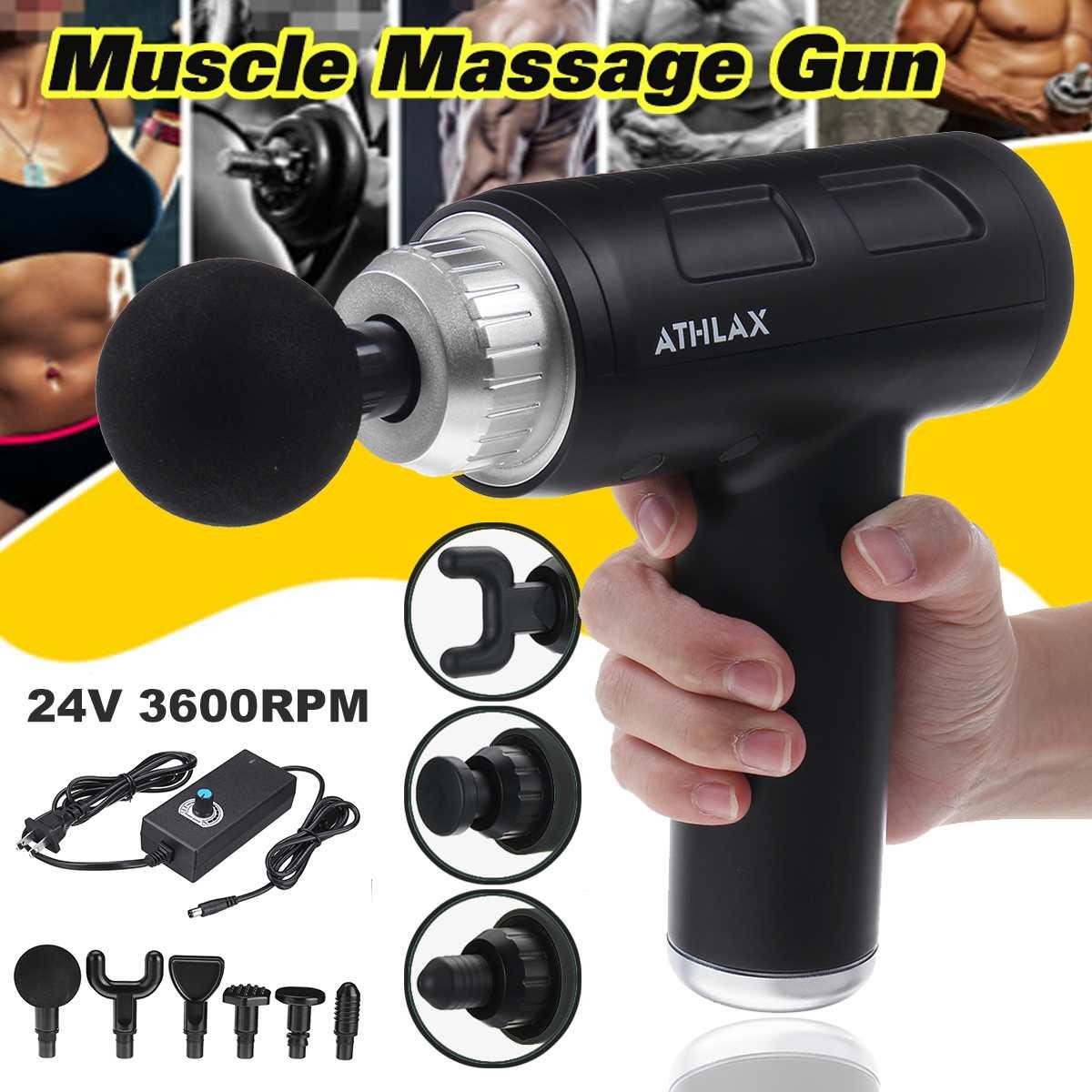 Miofascial fisioterapia Fascia Guns reducción de ruido Denoise masaje eléctrico músculo Relax profunda vibración masajeador con 6 cabezas