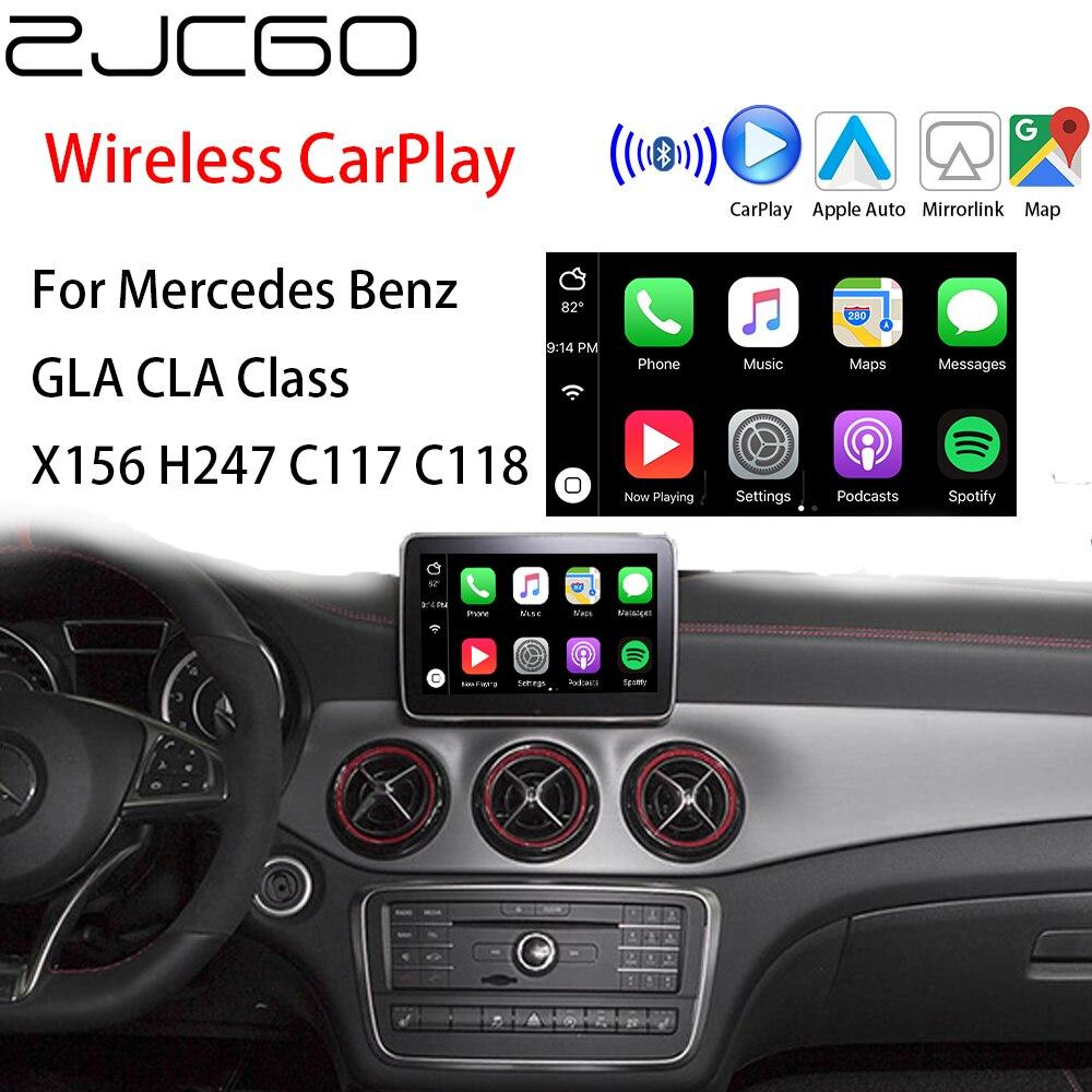 ZJCGO, Apple CarPlay inalámbrico, caja adaptadora de interfaz para coche Android para Mercedes Benz GLA CLA clase X156 H247 C117 C118 NTG