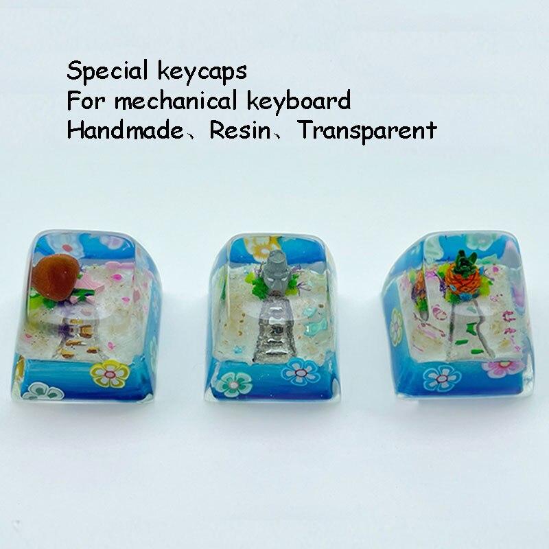 Personalidade Resina Keycap r4 Altamente Transparente Teclado Mecânico Caseiro Cruz Eixo Dedicado Esc F11 Boné 1 Pçs