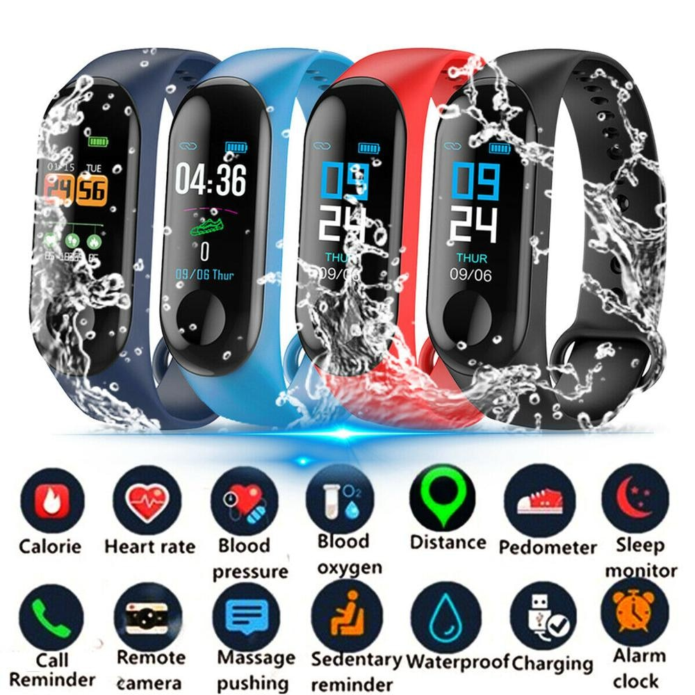 M4 Fitness Watch M3 Smart Band Wristband Blood Pressure/Heart Rate Monitor/Pedometer Sports Bracelet for Health