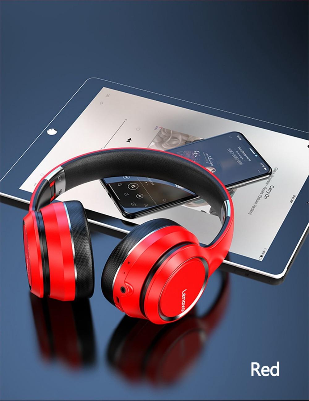 Lenovo HD200 Bluetooth Draadloze Stereo Hoofdtelefoon BT5.0 Lange Standby Leven Met Noise Cancelling Voor Xiaomi Iphone Lenovo Headset 20