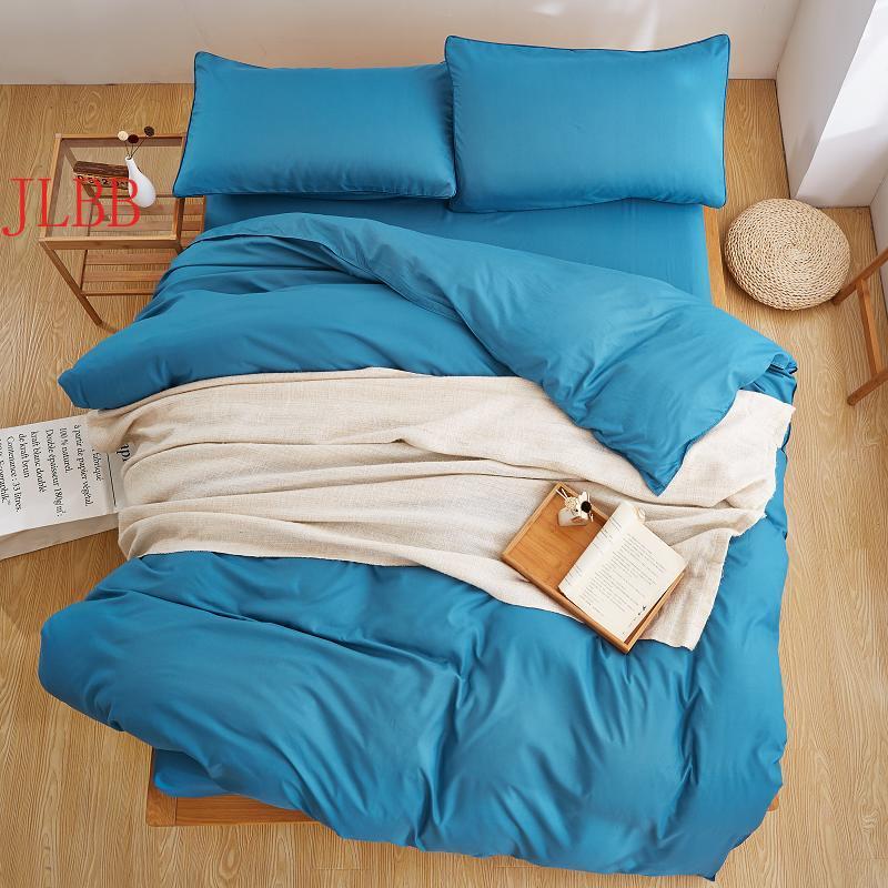Waterblue طقم سرير مجموعة غطاء لحاف الصلبة ستوكات المفارش رمادي بياضات سرير AB الجانب طقم سرير الكبار 3 أو 4 قطعة ورقة مسطحة السرير