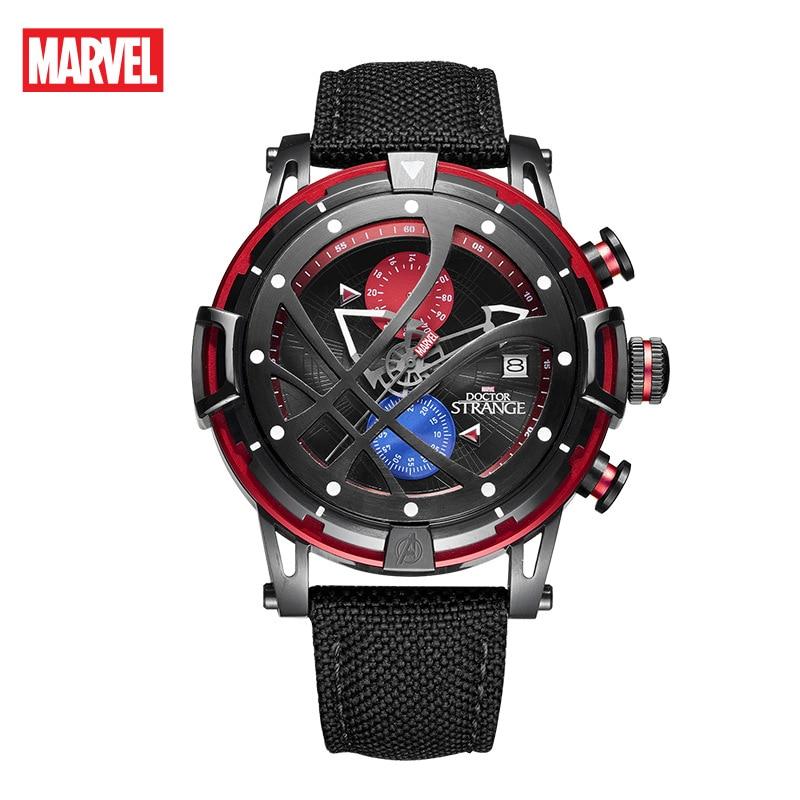 Disney Marvel Men's Fashion Casual Multi-function Men's Watch Watch Iron Man Men's Waterproof Quartz Watch