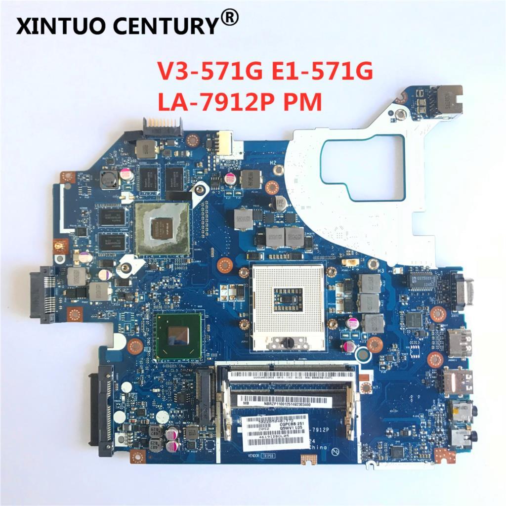 Материнская плата q5wv1 для Acer aspire V3-571 V3-571G E1-571G, материнская плата для ноутбука HM77 DDR3 NBRZP11001 Q5WVH LA-7912P GT640M 2 Гб la 7912p fit for acer gateway v3 571 v3 571g e1 571g nv56r notebook motherboard nbc1f11001 hm70 sjtnv pga989 ddr3 fully tested