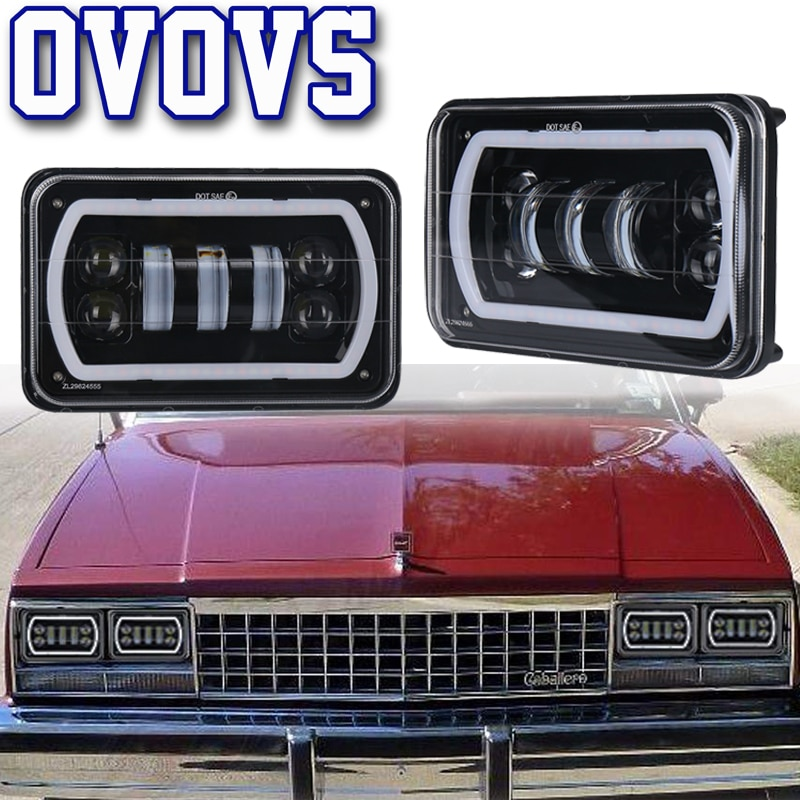 4x6 faros Led para Chevrolet Ford Kenworth camión Semi camión