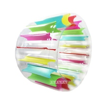 YHS158, rueda de agua inflable para el césped para el hogar, rodillo de inflar agua flotante para niños, rodillo de arrastre multifuncional de PVC para padres e hijos