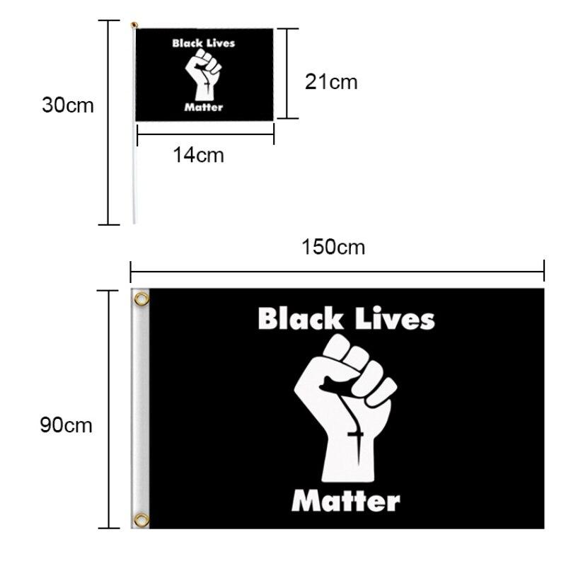 ¡Oferta! Bandera Americana Negra LIVES MATTER bandera 90x150 Bandera de mano conjunto nuevo