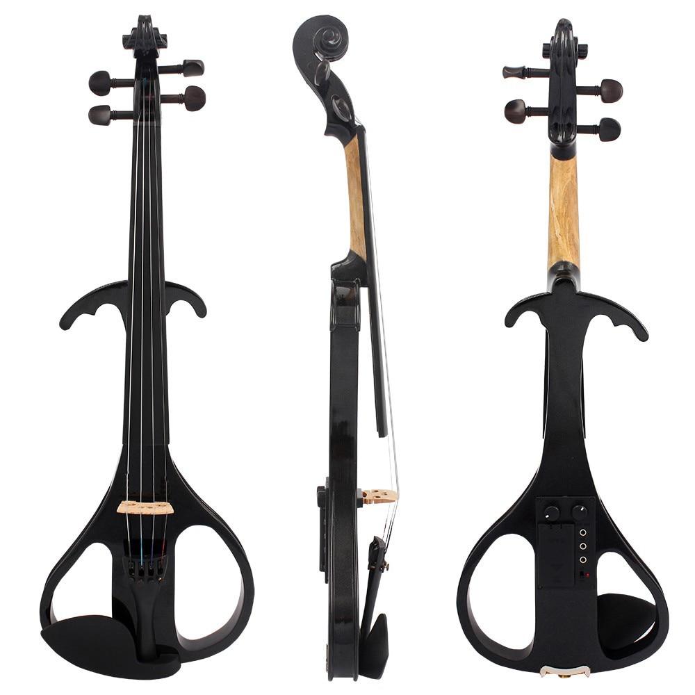 Student Electric Violin Full Size 4/4 Electric Violin Fiddle Solid Wood Electric Violin 4/4 Violin Beignner Violin Preamp SET enlarge