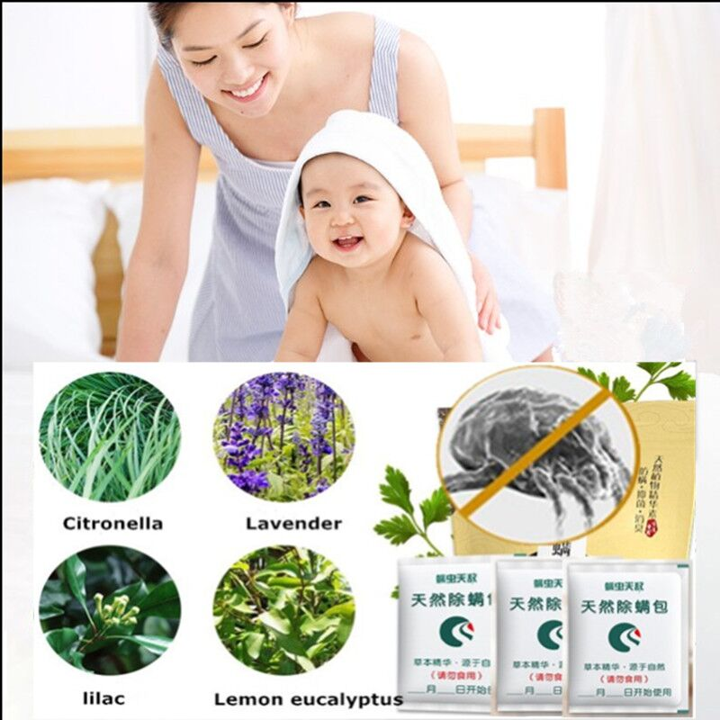 3Pcs Effective Bed Bug Killer Mite Repeller Natural Herbal Anti-mite Safety Pest Control for Home Be