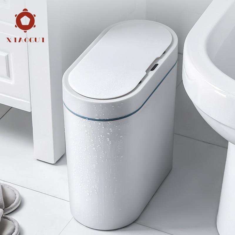 XiaoGui Smart Sensor Trash Can Electronic Automatic Household Bathroom Toilet Waterproof Narrow Seam