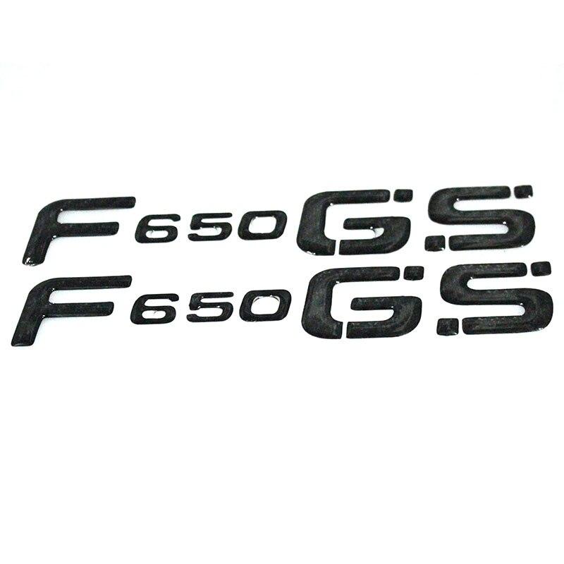 "De carbono negro de la motocicleta insignia etiqueta 3D rueda de tanque logotipo ""F650GS"" etiqueta engomada BMW MOTO BMW F650GS f650 gs"