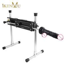 IKenmu 2020 nouvelle Machine de sexe premium Machine de sexe calme et de puissance pour les adultes avec de gros gode noir pièces jointes sexe mashine