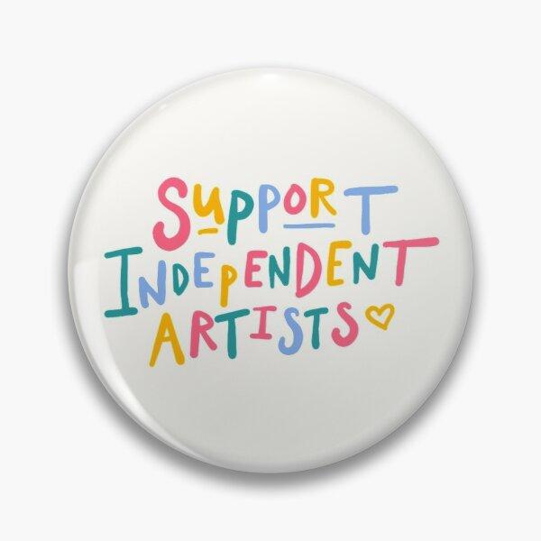 Soporte artistas independientes Arco Iris cita pegatina broche placa de Metal Cosplay mochila accesorios ropa Dropshipping