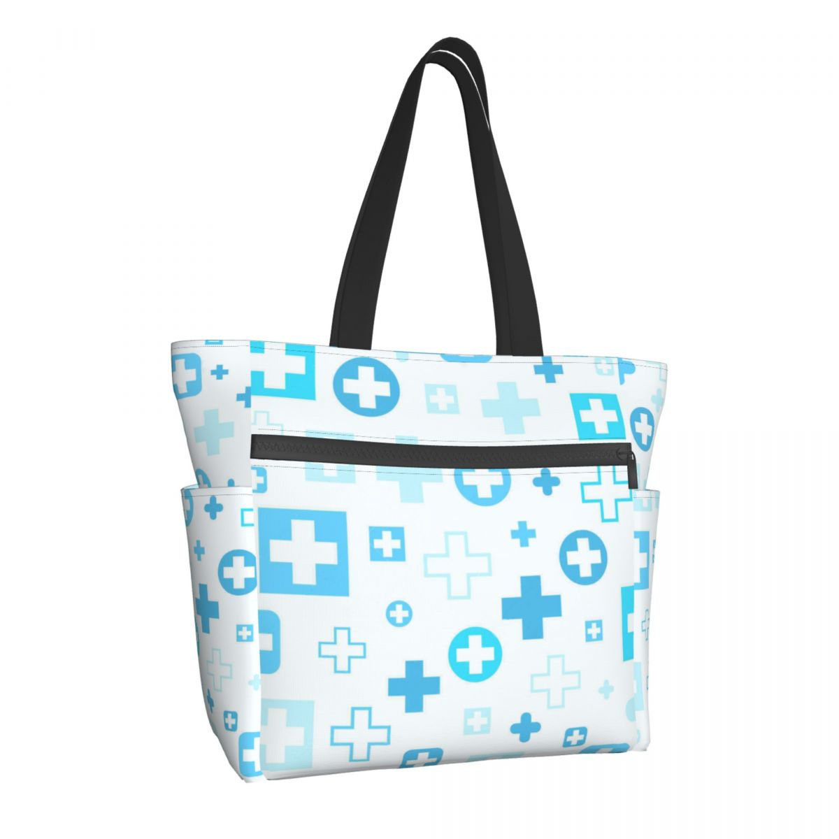 NOISYDESIGNS الكرتون ممرضة طباعة الصيف حقيبة كتف سستة حقيبة يد للتسوق عالية الجودة النساء الفتيات قماش حقيبة شاطئية كبيرة