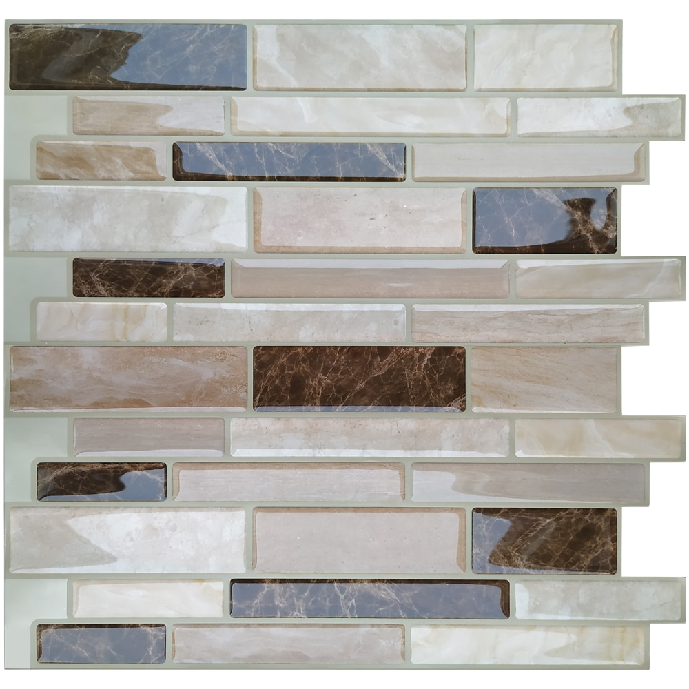 Mosaic Self Adhesive Backsplash Kitchen Bathroom Vinyl Wallpaper 3D Peel and Stick Wall Tiles