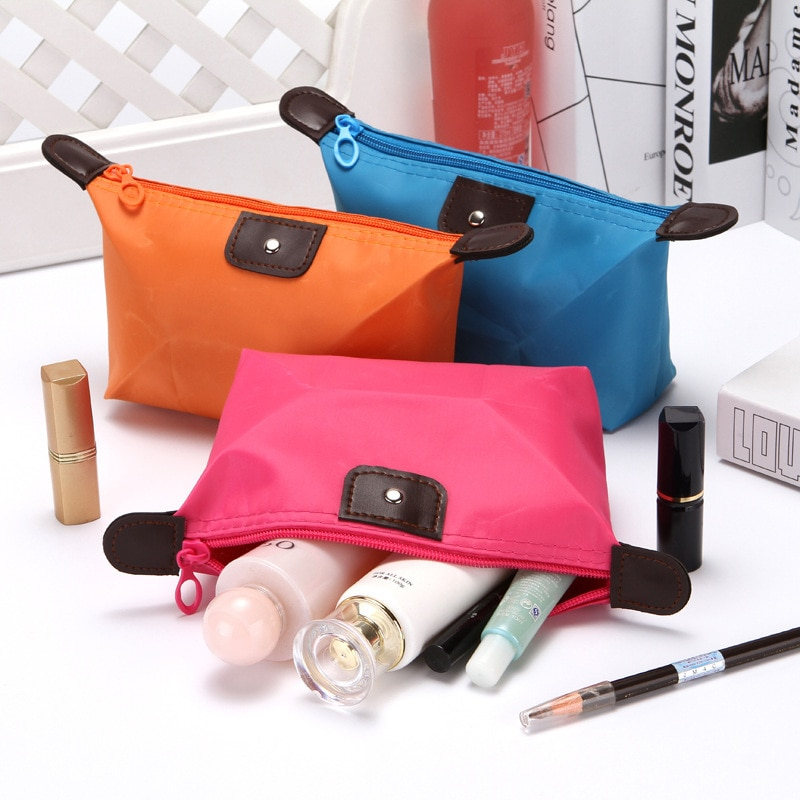 Дорожные портативные складные косметички, женская косметичка, водонепроницаемая сумка из ткани Оксфорд для мытья, органайзер для туалетны...