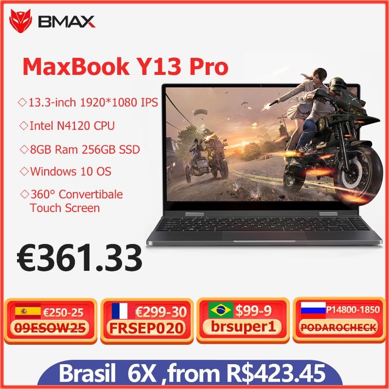 Promo BMAX Y13 Pro Intel Core m5-6Y54 360° Laptop 13.3 inch NotebookWindows 10 8GB RAM 256GB SSD 1920*1080 IPS touch screen laptops PC