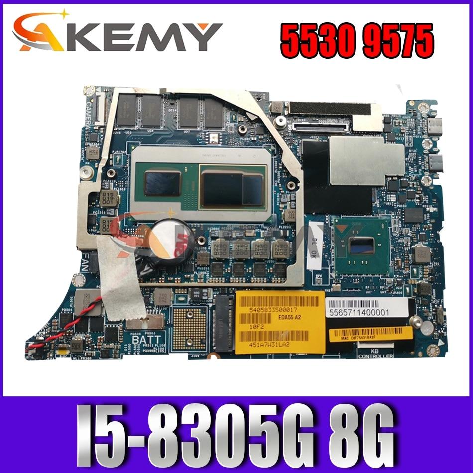 Akemy العلامة التجارية الجديدة I5-8305G 8G لديل الدقة 5530 اللوحة الأم لأجهزة الكمبيوتر المحمول DAZ10 LA-F211P CN-0F89DJ F89DJ 1FD88 اللوحة الرئيسية 100% اختبارها
