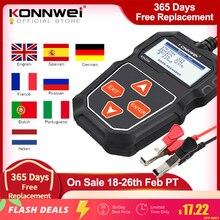 KONNWEI-probador de batería de coche KW208, 12 V, 100 a 2000CCA, probador de arranque, Analizador de batería, herramientas de batería de 12 voltios