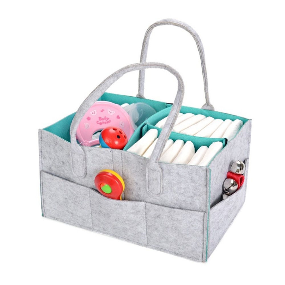 LOOZYKIT bolso de maternidad bolsa de pañales para bebé Almacenamiento de guardería para Recién Nacido bolsa de pañales plegable organizador de cuidado del bebé contenedor