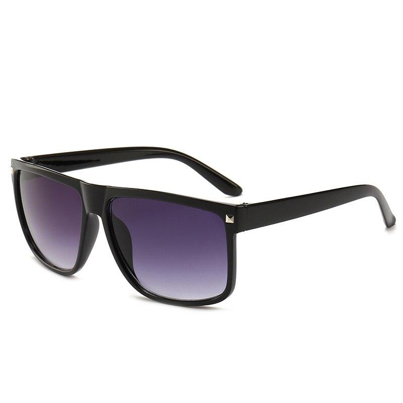 Novo europeu e americano clássico retro rebite óculos de sol unisex grande caixa moda tendência óculos de sol marca designer uv400