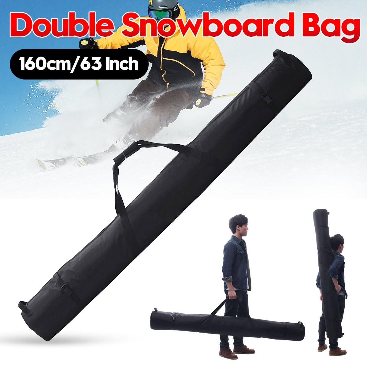 Bolsa de Snowboard de 160 cm/63 pulgadas para Snowboard doble en poliéster, bolsa deportiva para Snowboard, bolsa para Snowboard