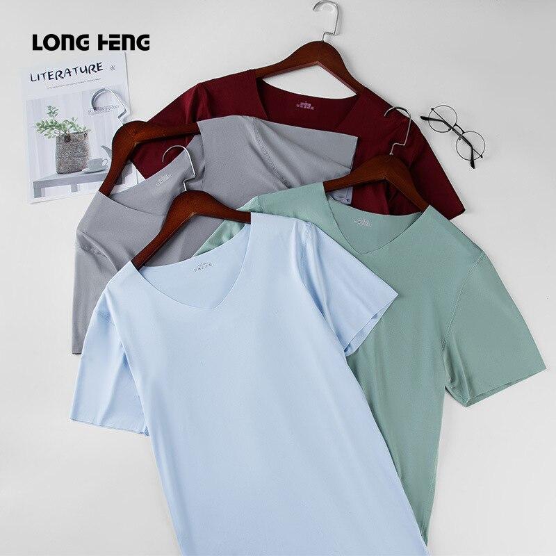 Camiseta informal con cuello en V para hombre, camiseta a la moda de hip hop, camiseta informal de verano para hombre, camisetas de talla grande M-5XL