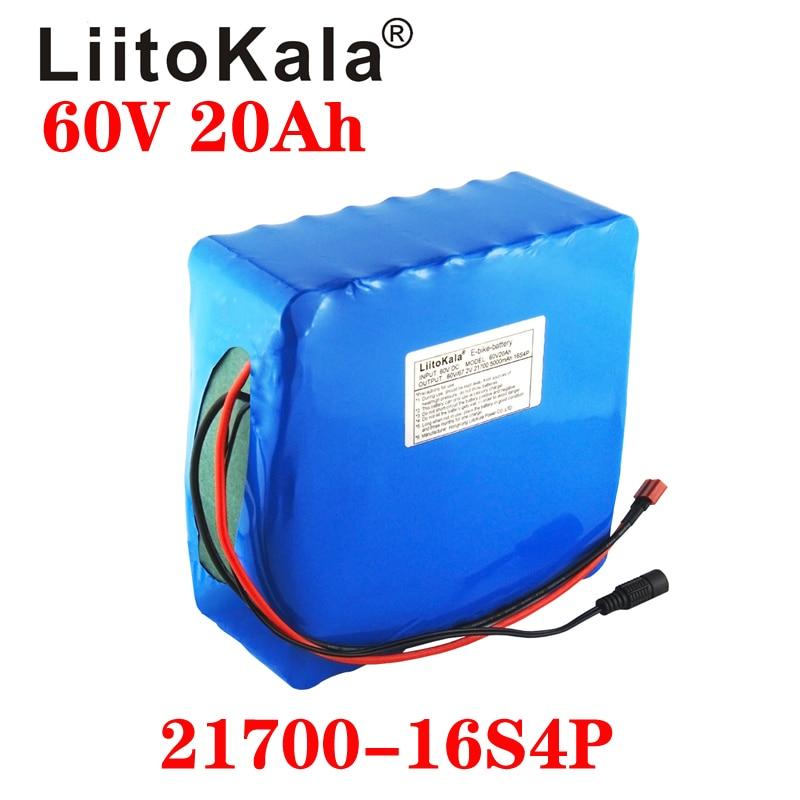 LiitoKala 60 فولت 20 أمبير سكوتر كهربائي bateria 60 فولت 20 أمبير دراجة كهربائية الليثيوم سكوتر كهربائي 60 فولت 1000 واط 2000 واط بطارية ebike