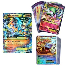 100pcs Pokemon MEGA EX Cards Box TAKARATOMY Children Playing Games Battle Trading collect Shining Ca