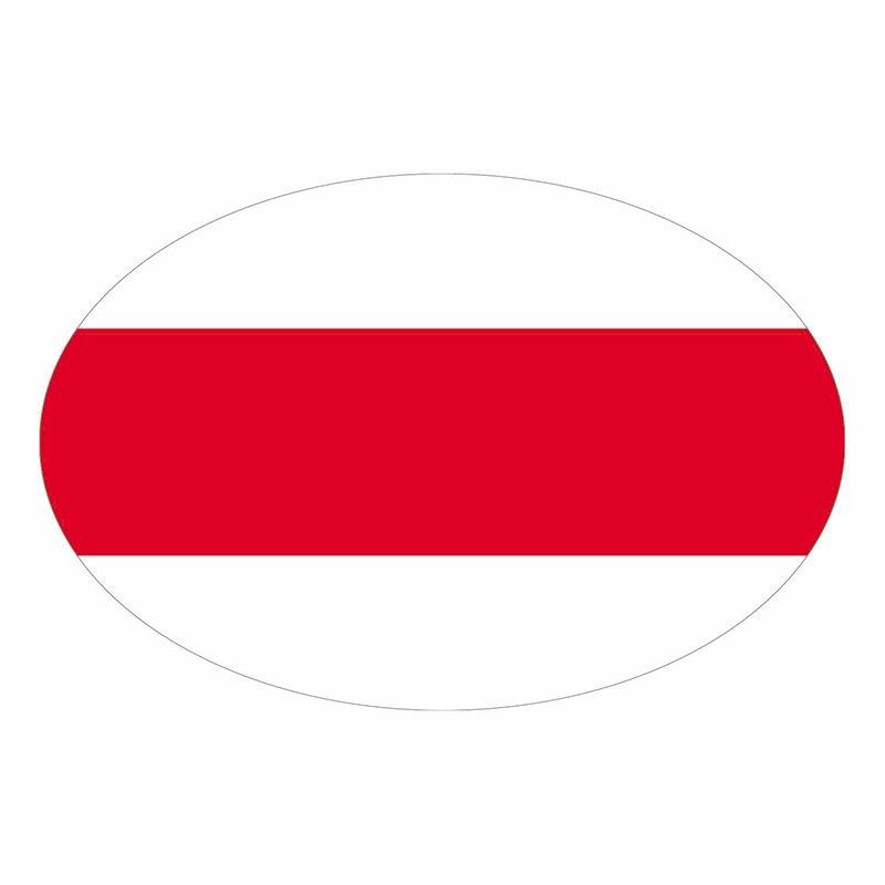 B01038 самоклеящаяся наклейка с бело красно-белые флабеларуси автомобильные наклейки водонепроницаемые Автомобильные украшения на бампер за...