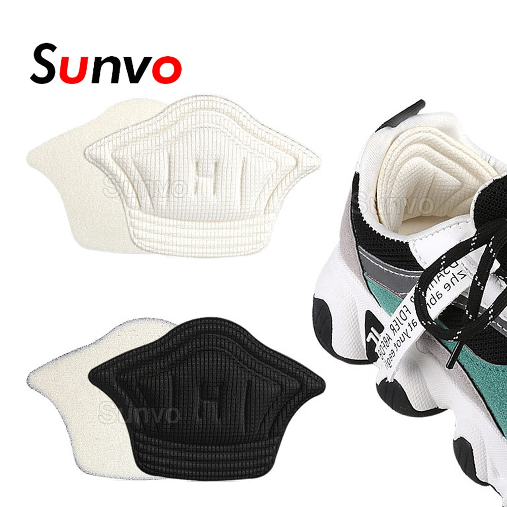 Sunvo Women Insoles for Sport Running Shoes Adjust Size Heel Liner Grips Protector Sticker Pain Reli