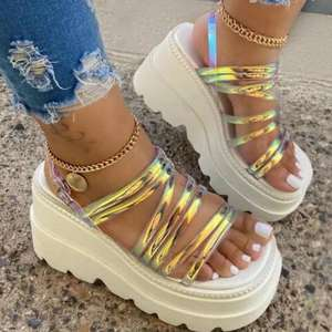 Fashion Platform Thick Women Sandal 2021 Summer Woman Shoes High Heel Sandal Clear Heels for Women Sapatos De Mujer