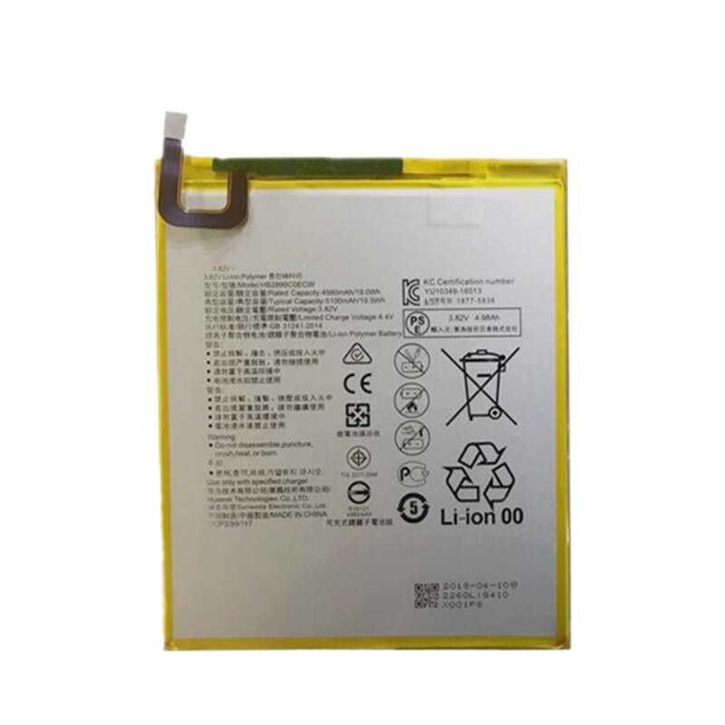 Nuevo Original entrega HB2899C0ECW 5100mAh batería nueva para Huawei MediaPad M3 8,4 BTV-W09 BTV-DL09 SHT-AL09 SHT-W09 teléfono