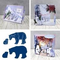 new 2021 polar bears cutting dies for diy scrapbooking crafts dies cut stencils maker photo album template handmade decoration