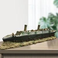 heavy duty aquarium decoration accessories titanic ship wreck model ornament fish tank decoration accessories