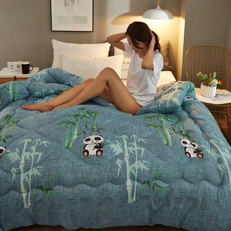 لحاف سرير كبير كبير الحجم من الملك الملكة لحاف فاخر عالي الجودة لحاف ذو تصميم جديد وبطانة سميكة ودافئة مناسب لجميع فصول السنة