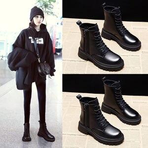 Ботинки мартинсы женские зимние, бархатные ботинки, толстая зимняя обувь, модные роскошные, большие размеры