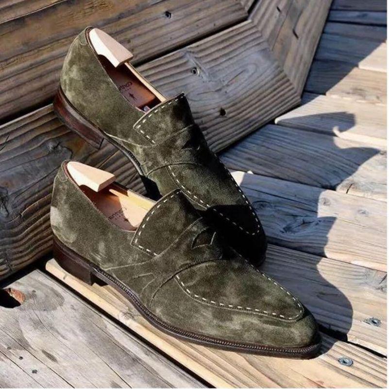 الرجال بسيطة و وسيم الأعمال فستان أحذية فو الجلد المدبوغ Lefu أحذية رائعة الخياطة الدعاوى أحذية مريحة ped8kh439