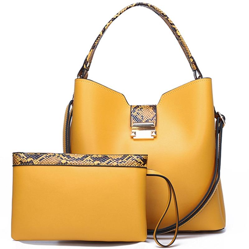 Women Fashion Handbags Clutches High Quality Leather Hand Bag Sets Large Shoulder Bag Women Crossbody Messenger Bags Sac A Main