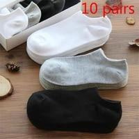 10 pairslot men socks cotton large size38 44high quality casual breathable boat socks short men socks summer male