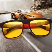 New Night Vision Glasses Men Women Polarized Sunglasses Yellow Lens Anti-Glare Goggle Night Driving
